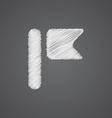 Flag sketch logo doodle icon vector
