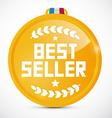 Best seller gold medal vector