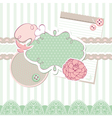 Abstract cute baby frame design elements vector