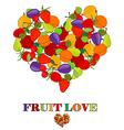 Fruit love concept vector