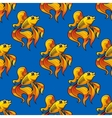 Beautiful ornamental goldfish seamless pattern vector