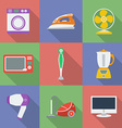 Colorful icon set of household appliance vector