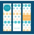 Texture circles stripes abstract vertical banners vector
