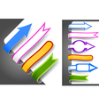 Colour bookmarks vector