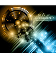 Disco speakers background vector