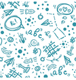 Back to school hand drawn doodle seamless pattern vector