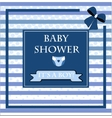 Baby shower card for baby boy vector