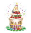Happy birthday cake 4 vector