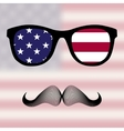 Sunglasses and mustaches vector