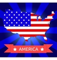 America flag on the american territory vector