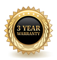Three year warranty vector
