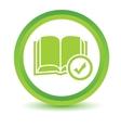 Select book volumetric icon vector