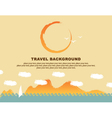 Background travel vector