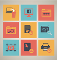 Flat web icons set 5 vector