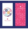 Abstract colorful stars vertical round vector