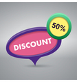 Discount label on gray background vector