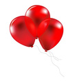 Party red balloons vector