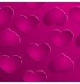 Love hearts valentins day seamless pattern vector