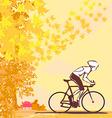 Outdoor autumn bike riding vector
