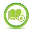 Favorite book volumetric icon vector