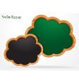 Blackboard cloud vector