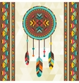 Ethnic background with dreamcatcher in navajo vector