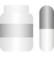 Pills with bottle vector