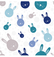 Funny bunny seamless pattern vector
