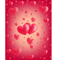 Valentine card hearts vector