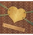Romantic retro background with heart vector