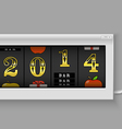 Happy new year slot maching with 2014 digits vector