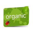 Organic green label vector