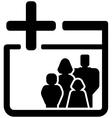 Family medical black icon vector