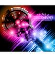 Disco speakers background vector