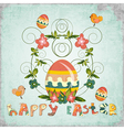 Retro design of easter card vector