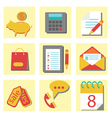 Set of flat icons for web design vector