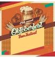 Oktoberfest beer festival vintage card vector