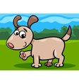Dog puppy cartoon vector