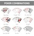 Poker combinations vector