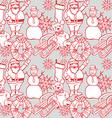 Seamless background with christmass items vector