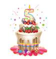 Happy birthday cake 5 vector