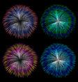Colorful fireworks set vector