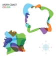 Abstract color map of ivory coast vector