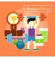 Bodybuilding concept vector