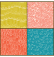 Set of four seamless abstract hand-drawn pattern vector