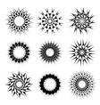 Abstract circular tattoos vector