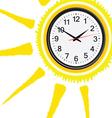 Clock classic in sun vector