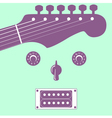 Funky guitar face vector