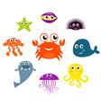 Sea creatures vector
