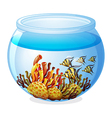 An aquarium with fishes vector